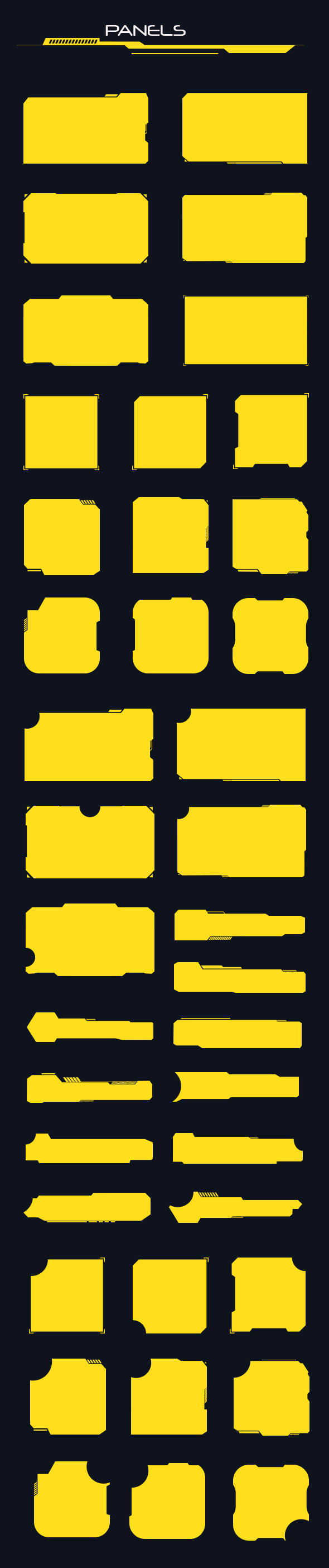 GraphicRiver 39 Hi-tech Panels Custom Shapes 20461064
