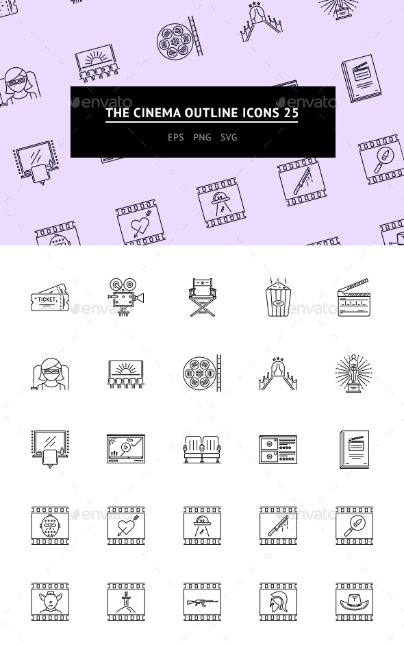 The Cinema Outline Icons 25 - Web Icons
