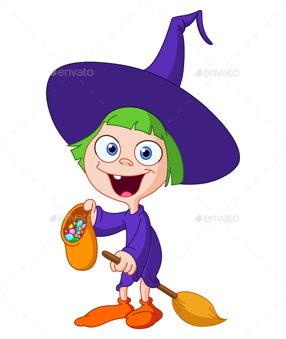 Witch Kid - Halloween Seasons/Holidays