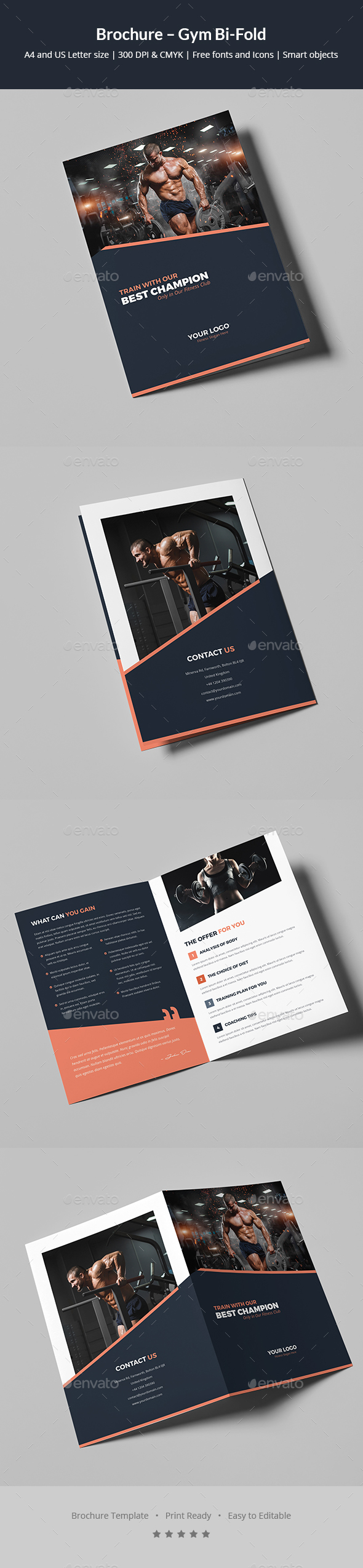 Brochure – Gym Bi-Fold - Corporate Brochures