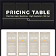 Hosting Price Table