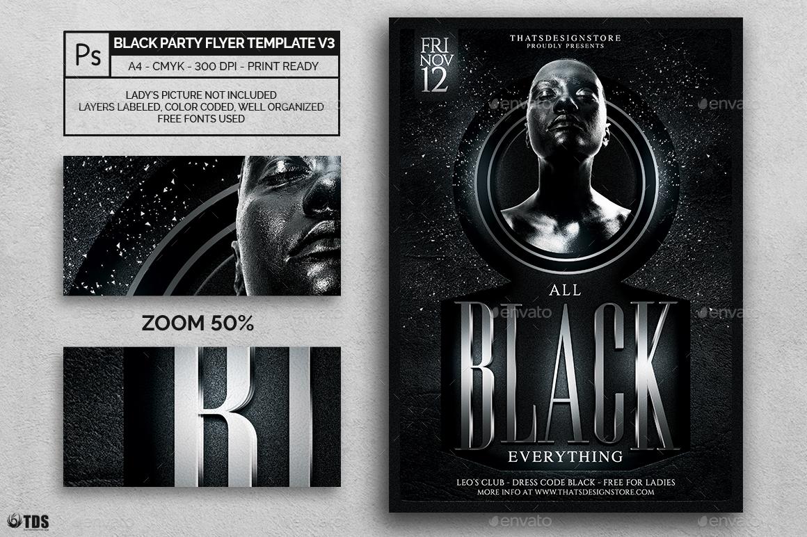 Free Flyer Templates Word Black And White Erkalnathandedecker