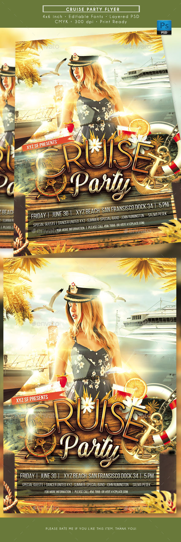 Cruise Party Flyer - Clubs & Parties Events