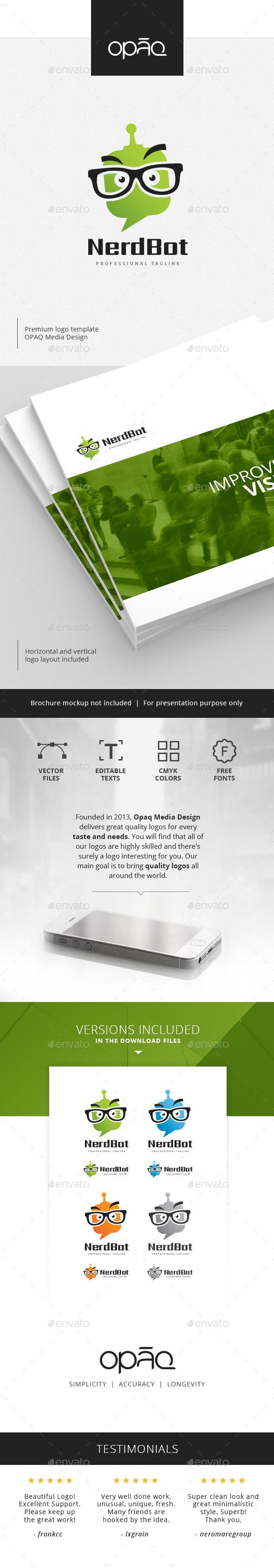 Nerd Bot Helper Logo - Objects Logo Templates