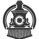 Vintage Train Locomotive Logo