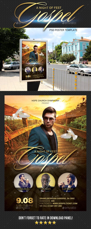 Gospel Fest Poster - Signage Print Templates
