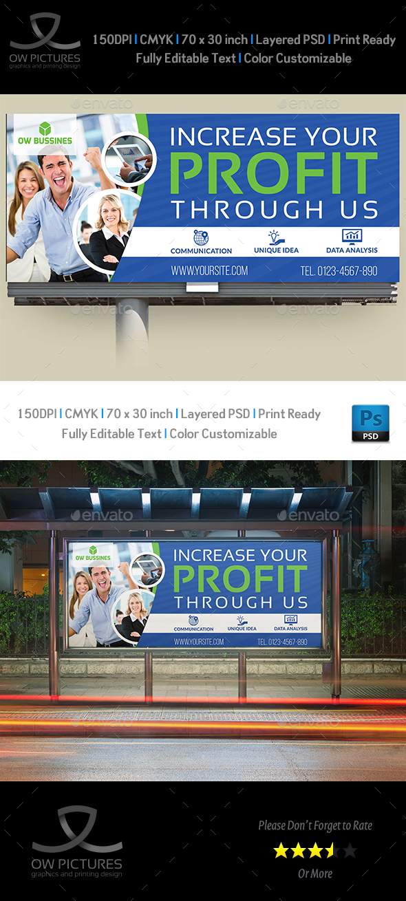 Corporate Business Billboard Template Vol.3 - Signage Print Templates