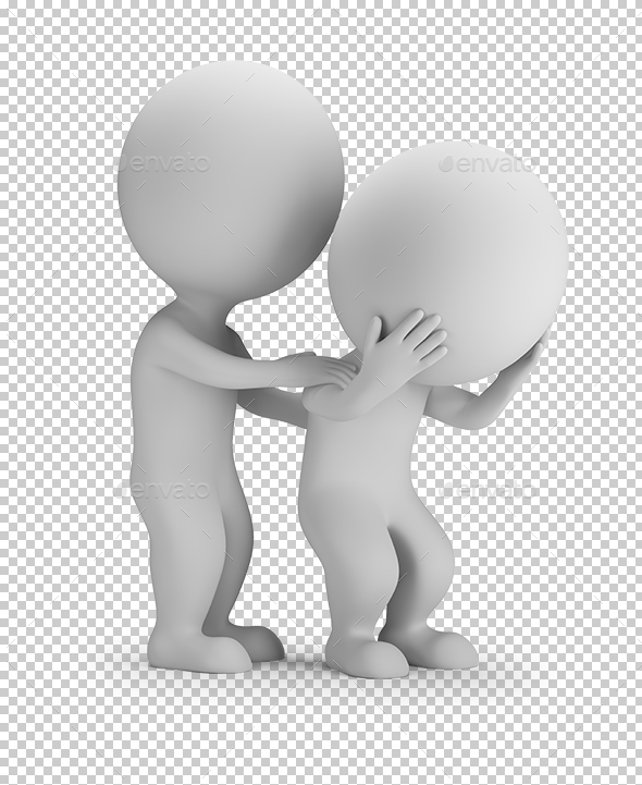 3D Small People - Consolation - Characters 3D Renders