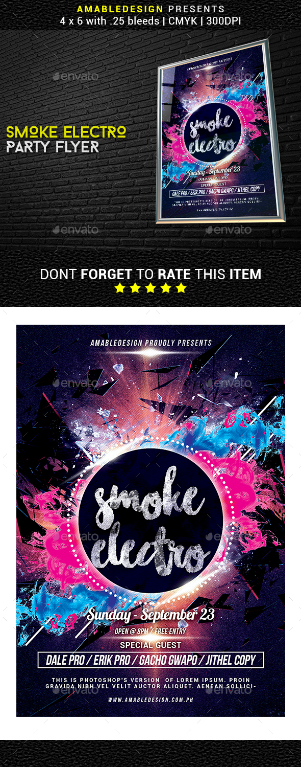 GraphicRiver Smoke Electro Flyer 20461505