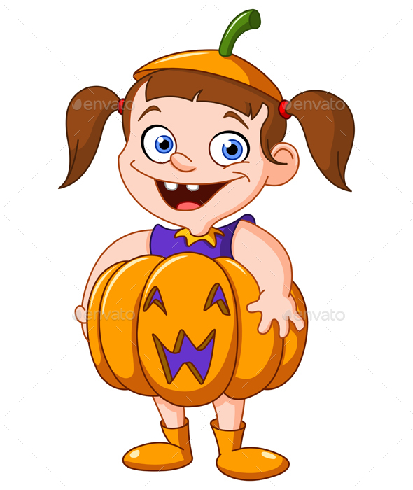 Pumpkin Kid - Halloween Seasons/Holidays