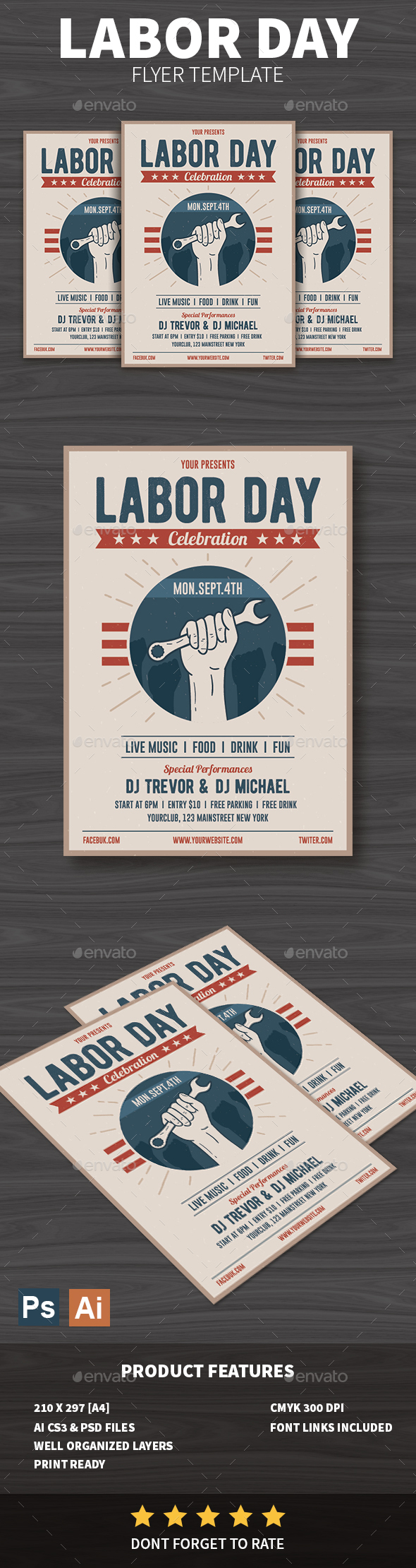 GraphicRiver Labor Day Flyer 20461690