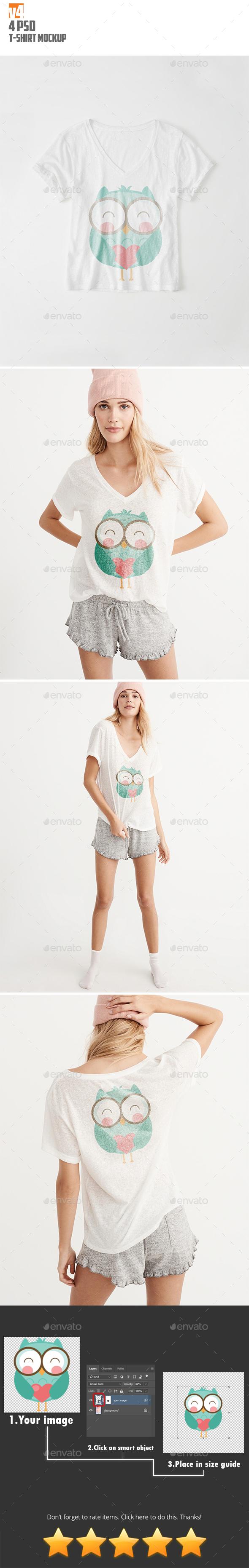 T-Shirt Mockup v4 - T-shirts Apparel