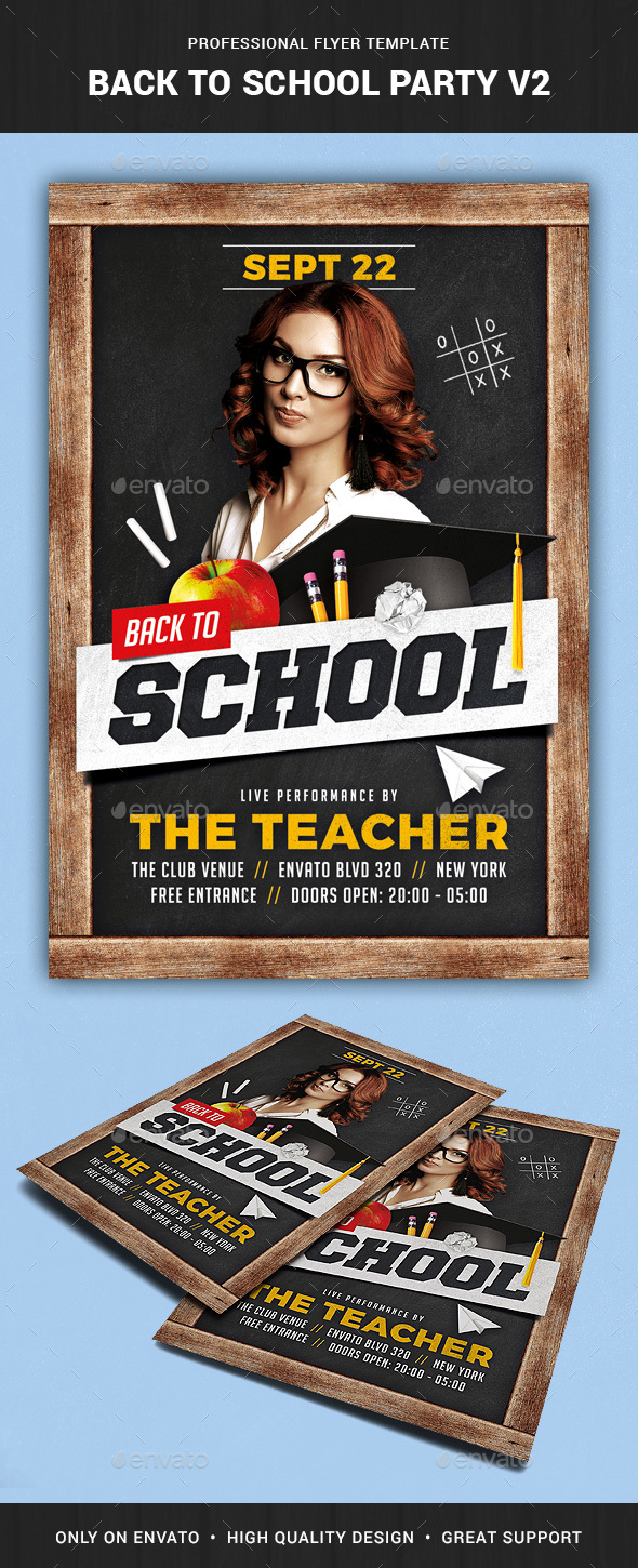 Back To School Flyer Template V2 By Liveatthebbq Graphicriver