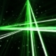 Flashing Green Laser Looped Composition