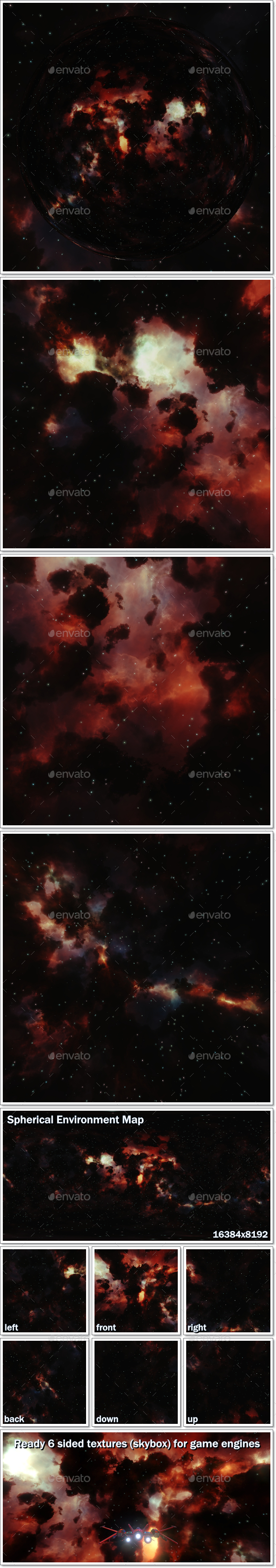 Nebula Space Environment HDRI Map 005 - 3DOcean Item for Sale