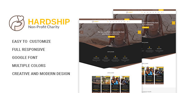 Hardship Charity Donation | Nonprofit / Fundraising HTML5 Template