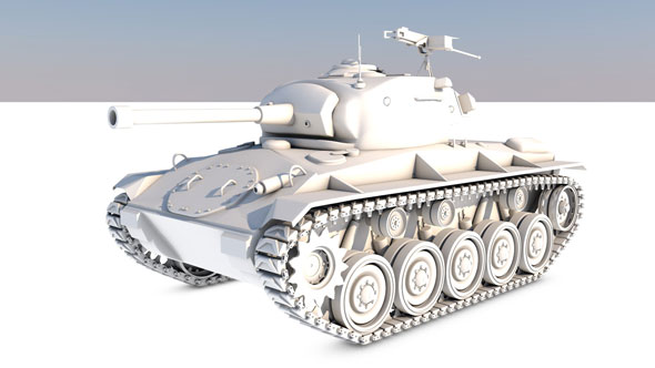 Tank-M24-SHAFEE - 3DOcean Item for Sale