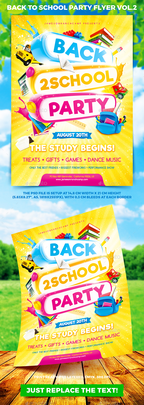 Back to School Party Flyer vol.2 - Miscellaneous Events