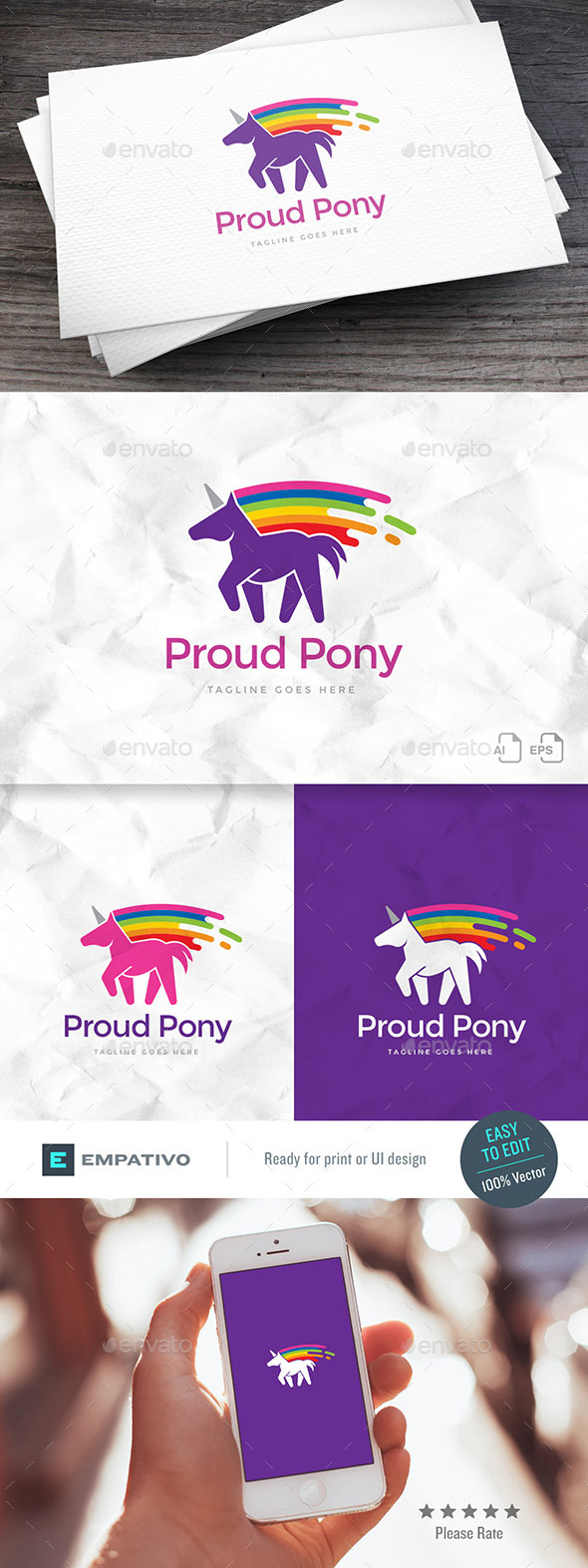 Proud Pony Logo Template - Animals Logo Templates