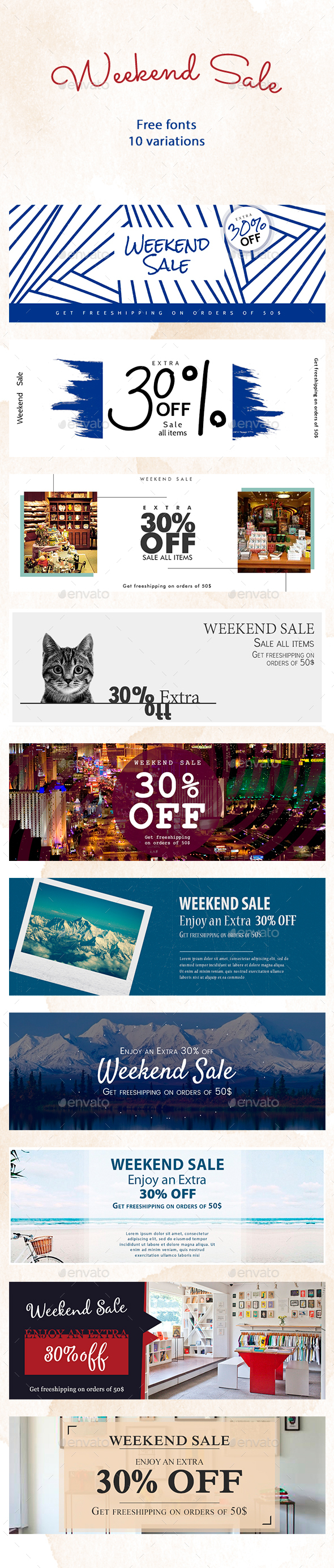GraphicRiver Weekend Sale Banners 20462024