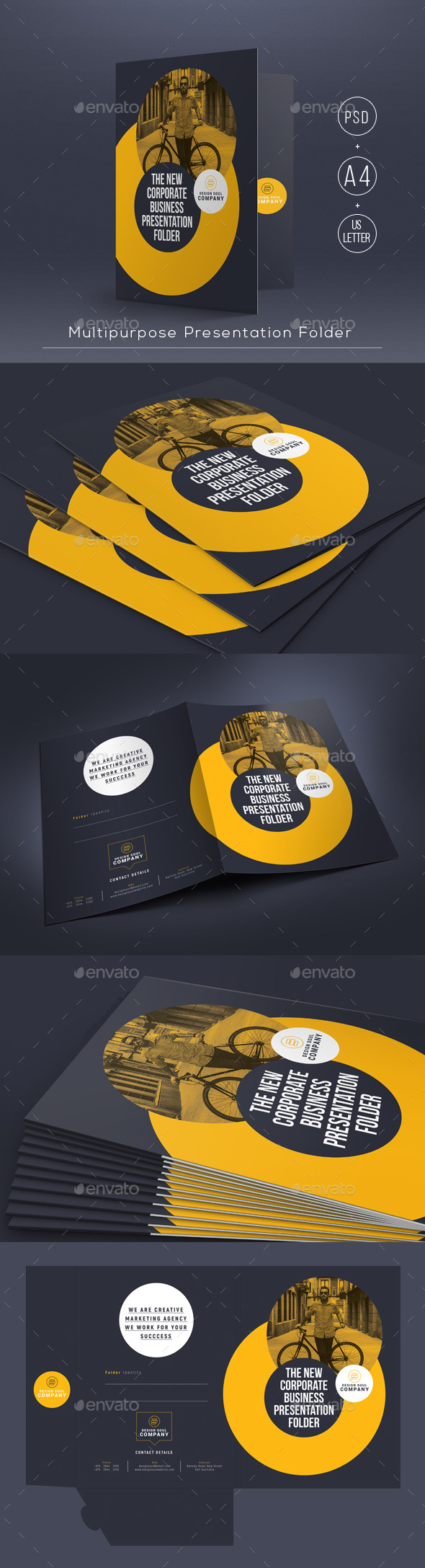 Multipurpose Presentation Folder - Stationery Print Templates
