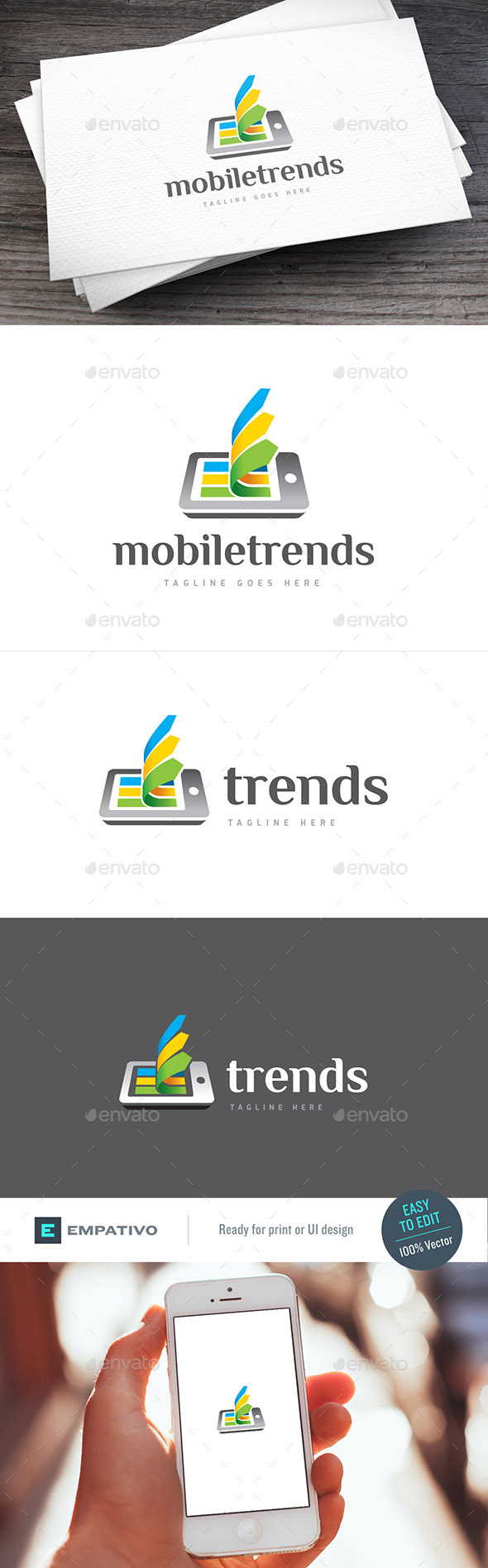 Mobile Trends Logo Template - Objects Logo Templates