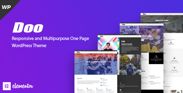 Doo - Responsive and Multipurpose One Page WordPress Theme