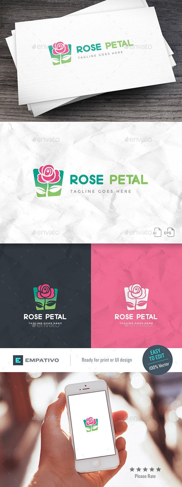 Rose Petal Logo Template - Nature Logo Templates