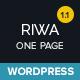 Riwa - One Page WordPress Theme - ThemeForest Item for Sale