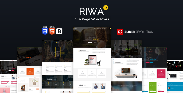 Riwa - One Page WordPress Theme - Creative WordPress
