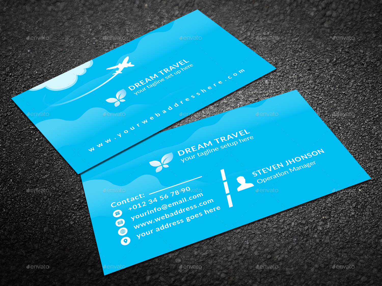 Travel Agency Business Card by Graphic-Forest | GraphicRiver
