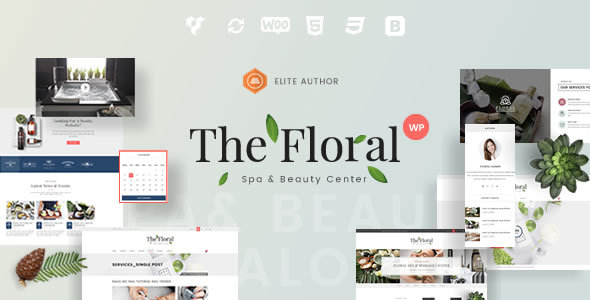 Floral - Spa and Beauty Responsive WordPress Theme - Health & Beauty Retail
