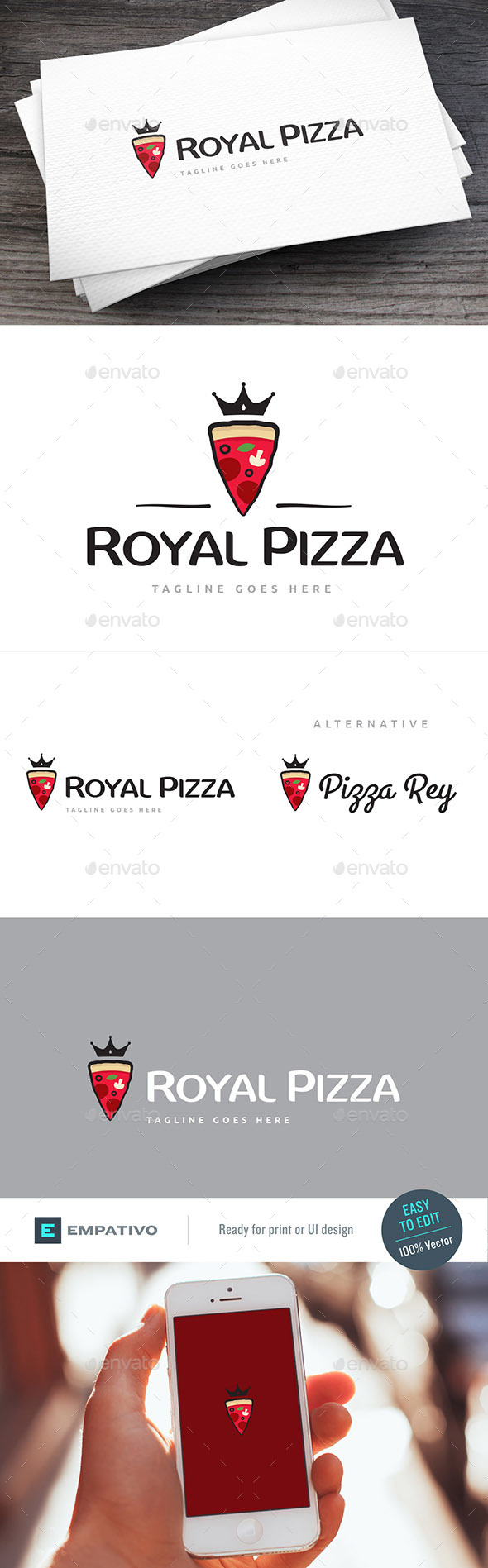 Royal Pizza Logo Template