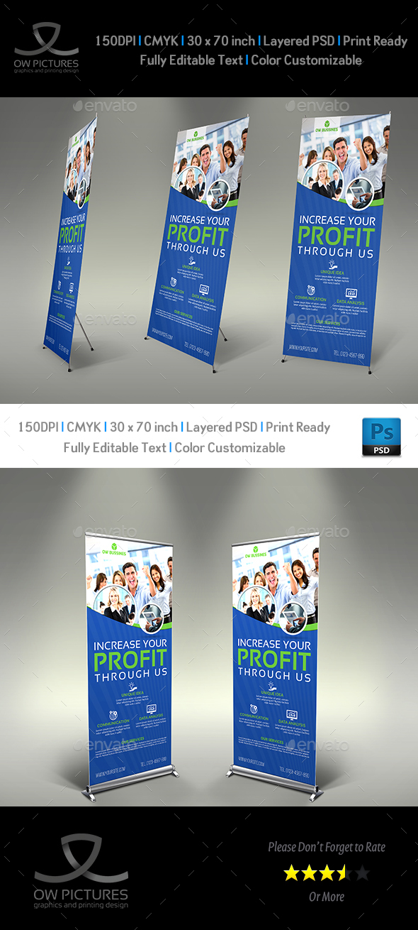 Corporate Signage Banner Roll Up Vol.3 - Signage Print Templates