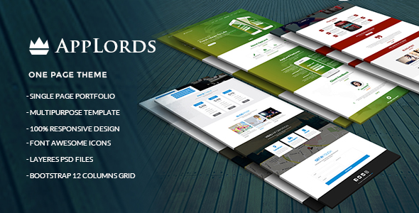AppLords_One Page Multipurpose PSD Template - Technology PSD Templates