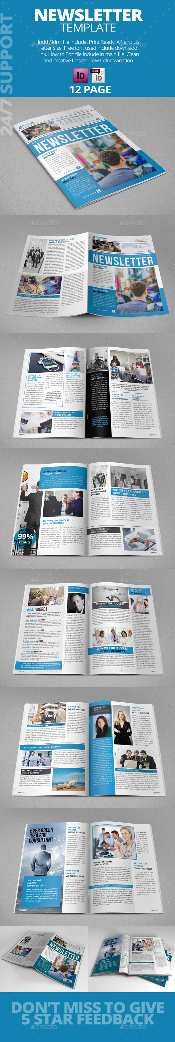 Newsletter Template - Corporate Brochures