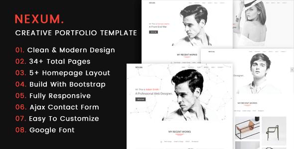 NEXUM – Creative Portfolio Template - Portfolio Creative