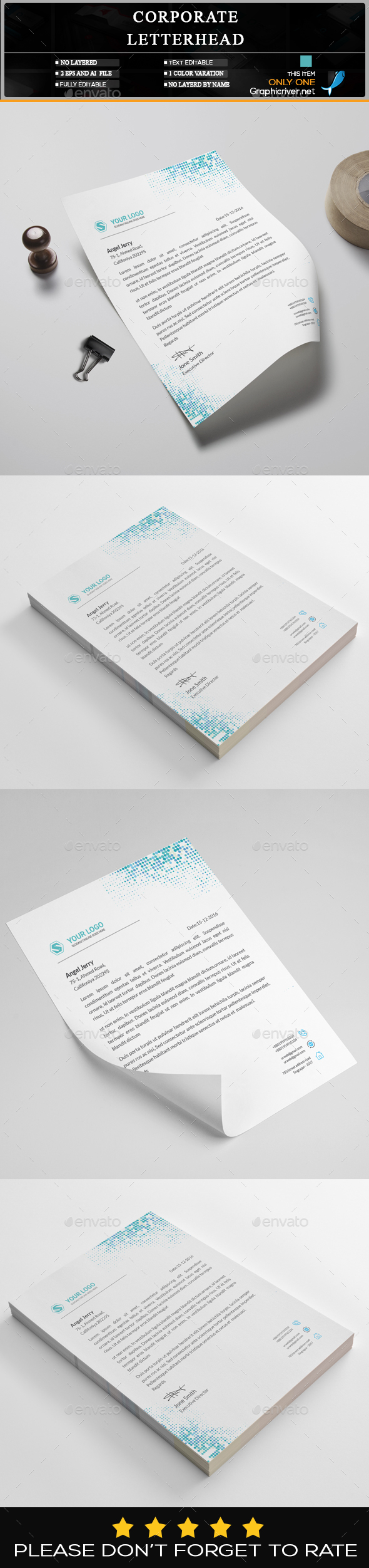 GraphicRiver Letterhead Template 20462294