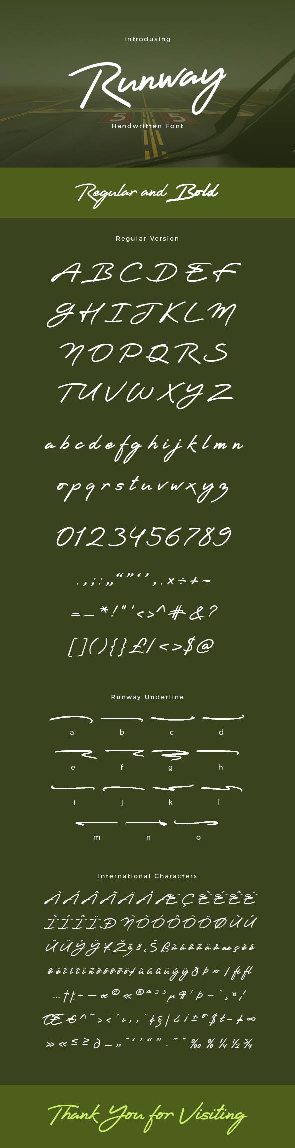 GraphicRiver Runway Handwritten Font 20462386