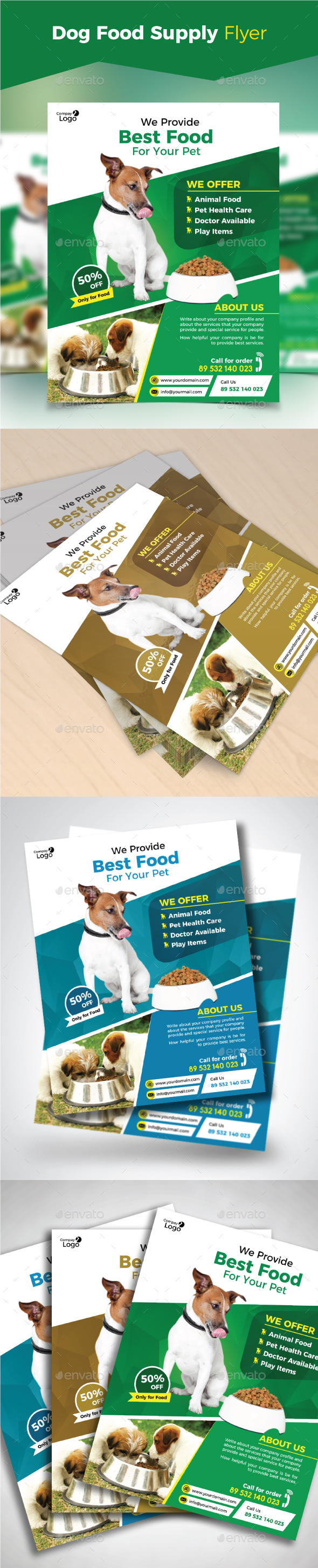 Dog Food Supply Flyer - Commerce Flyers