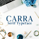 Carra Serif Typeface - GraphicRiver Item for Sale