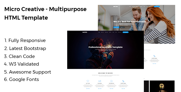 Micro - Creative Multipurpose HTML Template