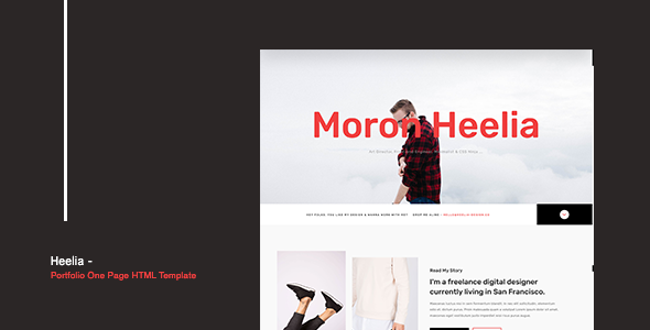 Heelia Portfolio One Page Html Template By Andykhai Themeforest