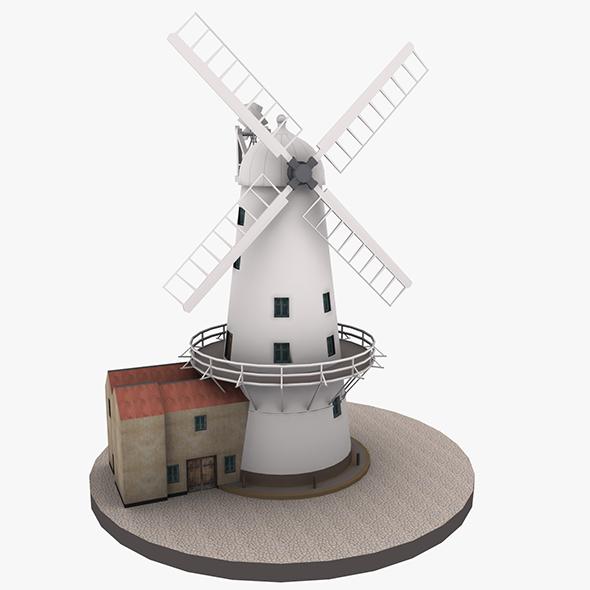 3DOcean Llancayo Windmill Usk 20462567