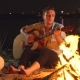 Campfire Around the Campfire with a Guitar - VideoHive Item for Sale