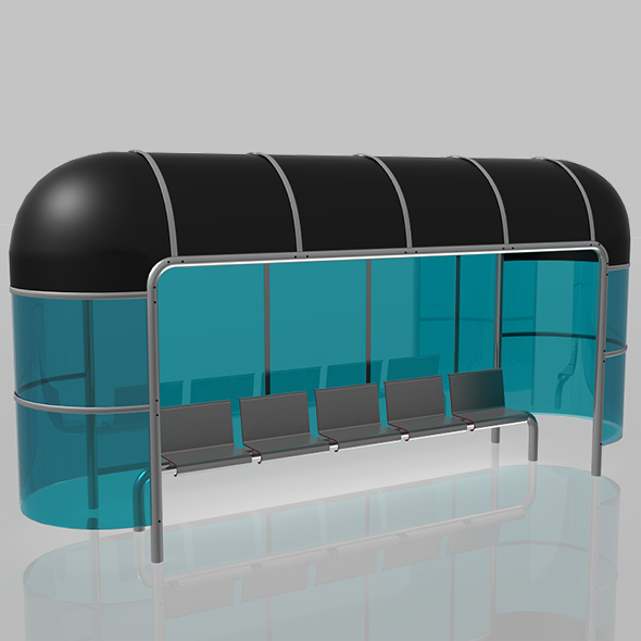 3DOcean Bus Stop Shelter 20462616