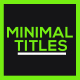 Minimal Titles v2 - VideoHive Item for Sale