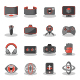 Flat Icons for Virtual Reality - GraphicRiver Item for Sale