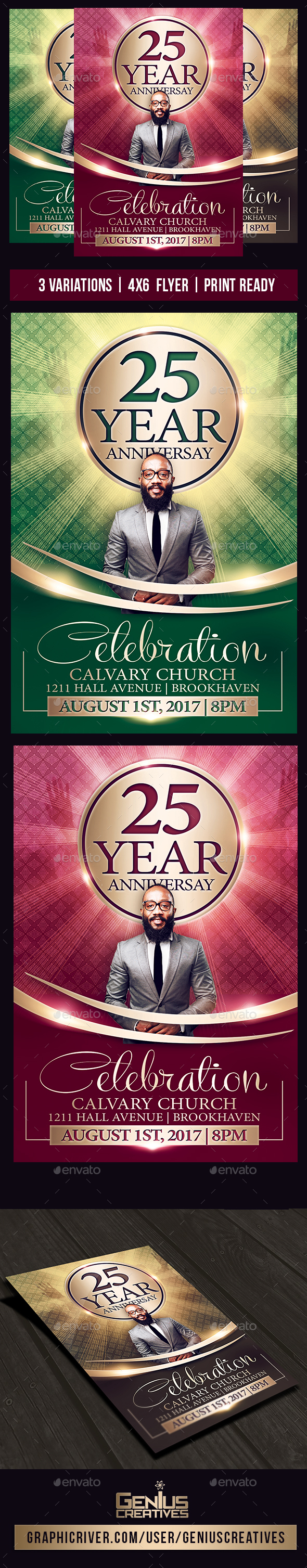 GraphicRiver Church Anniversary Flyer 20462843