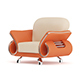 Orange Leather Armchair